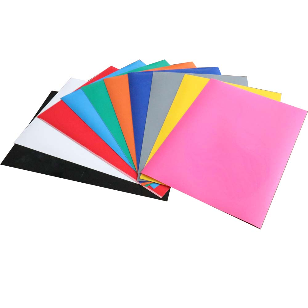 13 sheets A4 size PVC Heat Transfer Vinyl Iron on vinyl HTV Tshirt DIY 13 colors
