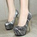 2017 Hot vendas 14 CM Saltos mulheres Sexy Bombas Moda Feminina Sapatos Camuflagem Sapatos de Plataforma de Salto Alto Sapatos Europeus