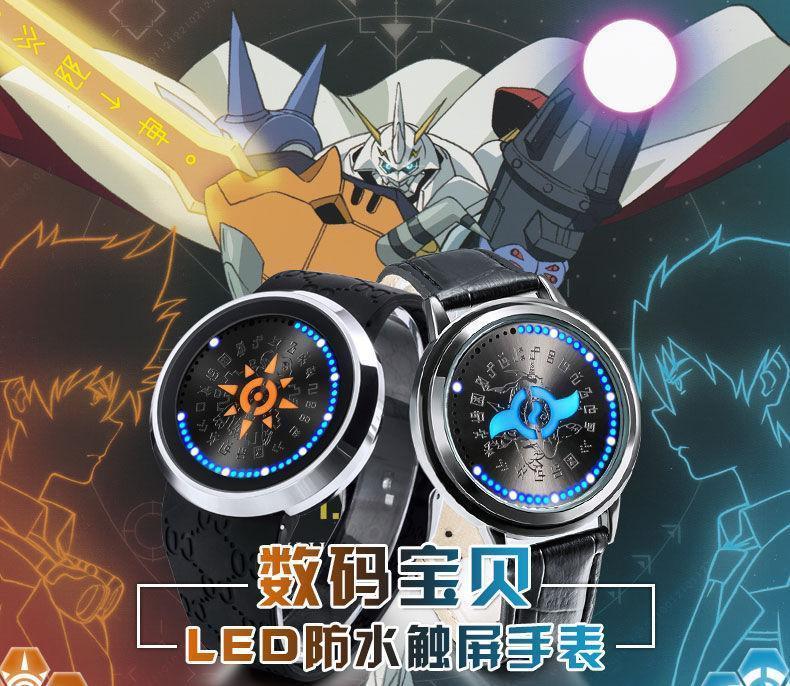 b2991f82c Digimon aventura 15th aniversario valor reloj LED DIGIVICE impermeable  pantalla táctil reloj de pulsera accesorios Cosplay