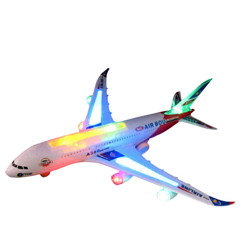 new2015 new electric airplane child toy toys moving flashing lights kids toy diy assembly aircraft gift in light up toys from toys hobbies on