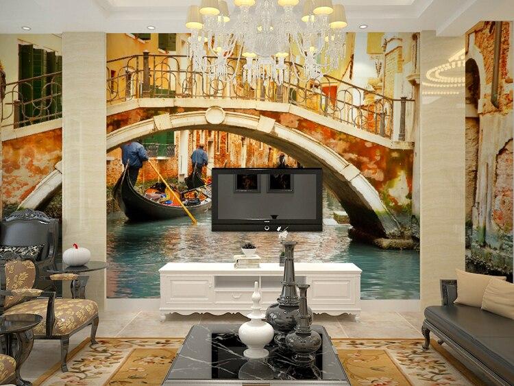 Mural Venice 3D large mural 3D wallpaper Bedroom Sofa living room ...