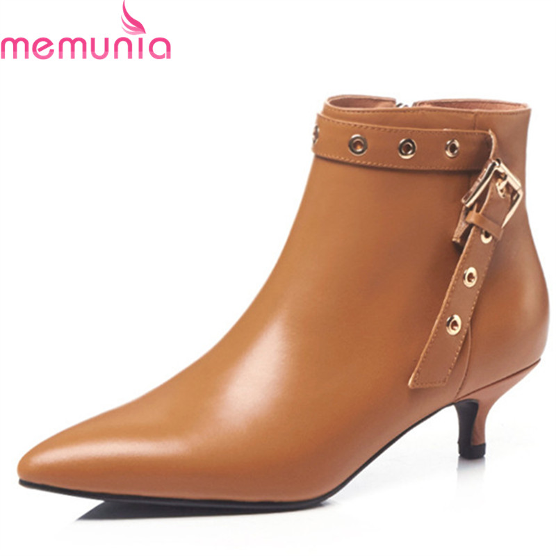 MEMUNIA 2018 new arrival genuine leather ankle boots for