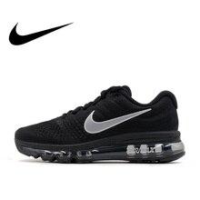 sports shoes 25de5 f443a Chaussures de course Nike Air Max 2017 respirantes officielles pour hommes  chaussures de sport baskets d
