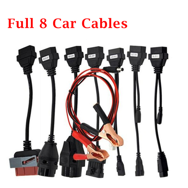 NEW VCI Full Set OBDII 8 Car OBD2 Cables For cdp tcs Cdp Pro plus mvd Multidiag pro+ auto diagnostic Tool Cables VD DS150E CDP