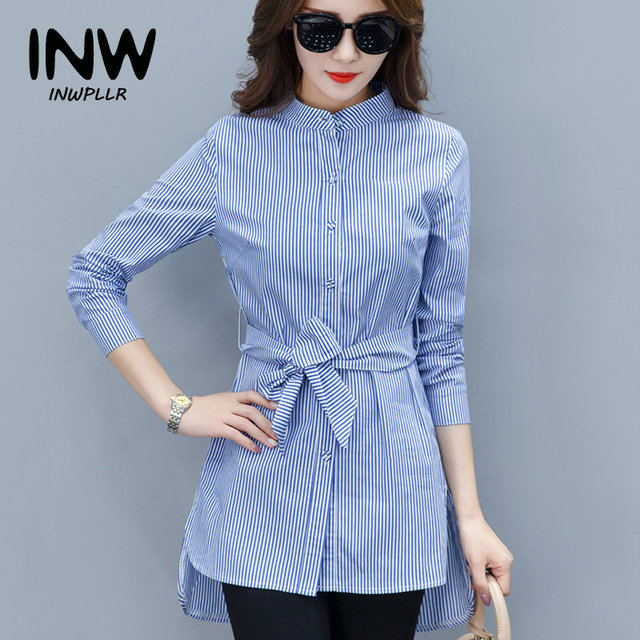 7d2c96e8d728 2019 Fall Women Shirts Fashion Chiffon Blouse Stripe Peplum Tops Women Bow  Long Sleeve Blusas Mujer Fashion Rayas Chemise Femme