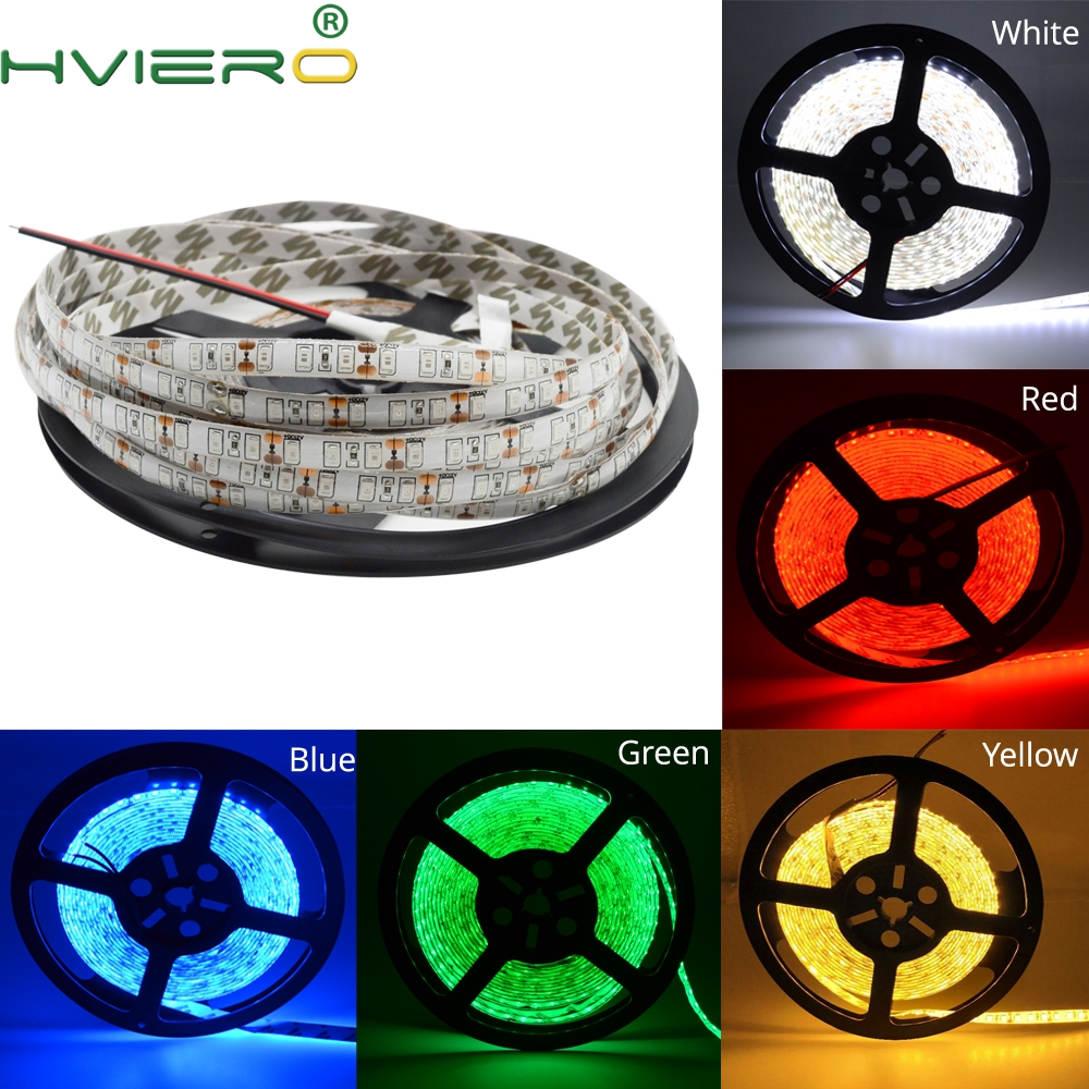 5M 2835 3528 SMD LED Strip Impermeabile Flessibile Home Light IP65 600 LEDs 120 m / s Bianco Bianco caldo Rosso Verde Blu Giallo DC 12V