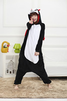 Unisex Flannel Adult Onesie Devil Pajamas Animal Costume Cosplay Party Girls Fancy Sleepwear Animation Cartoon Halloween