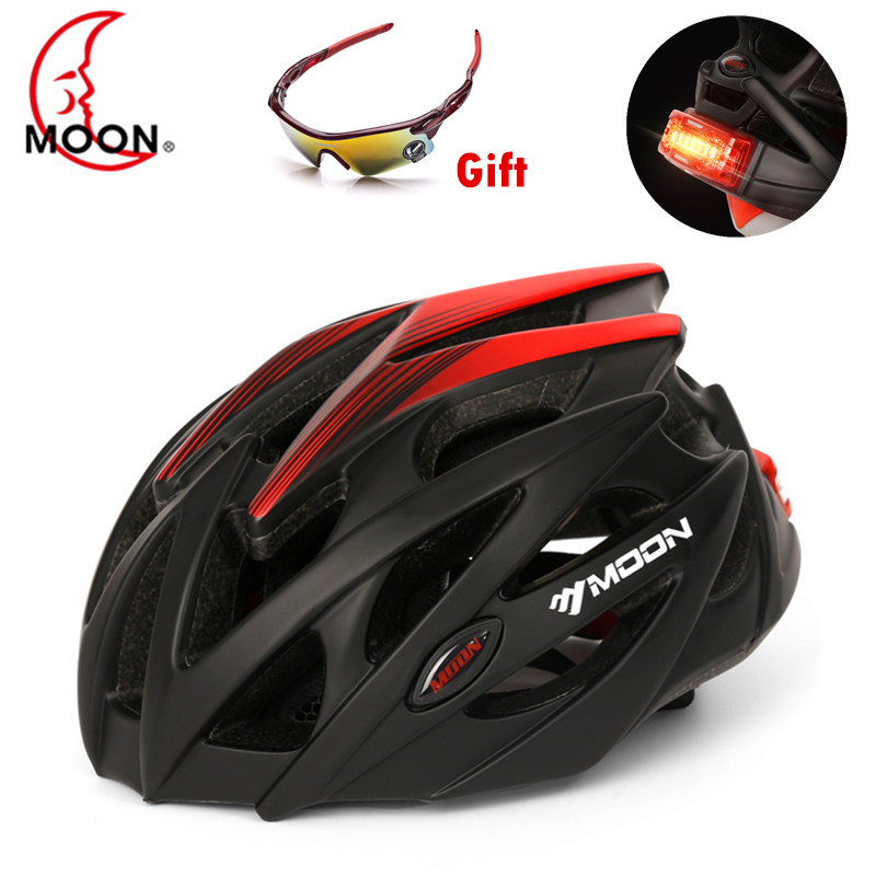 Moon Led Light Bicycle Helmets for Men Women Sports MTB Road Bike Helmet WIth Cornering lamp
