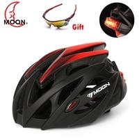 Moon Led Light Bicycle Helmets for Men Women Sports MTB Road Bike Helmet WIth Cornering lamp Casco Ciclismo Cycling Helmet BMX