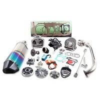 GY6 125 150 uprade GY6 200cc 4 ход поршня цилиндра 61 мм цилиндр комплект Racing A14 распределительного карбюратор CDI катушки выхлопных газов