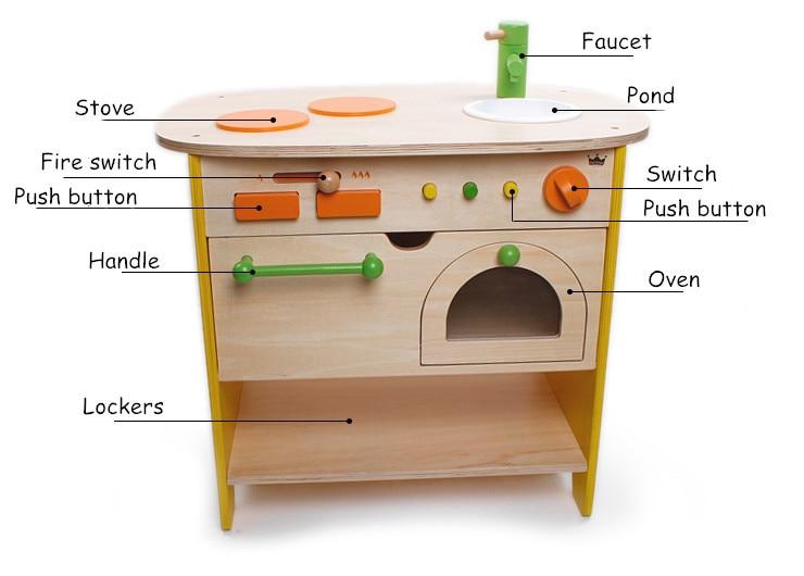 Keuken Kinderen Houten : Baby speelgoed japan ed inter grote simulatie keuken speelgoed