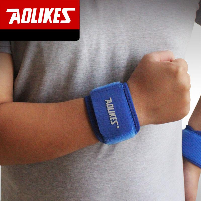 Adjustable Wrist Support Brace Brand Wristband Aolikes Men and Women 2 PCS Gym Wrestle Professional Sports Protection HBK018