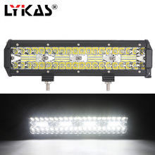 LYKAS 13 Inch 240W LED Work Light Bar 6000K Combo Beam for Tractor Boat Offroad 4WD 4×4 Car Truck SUV ATV