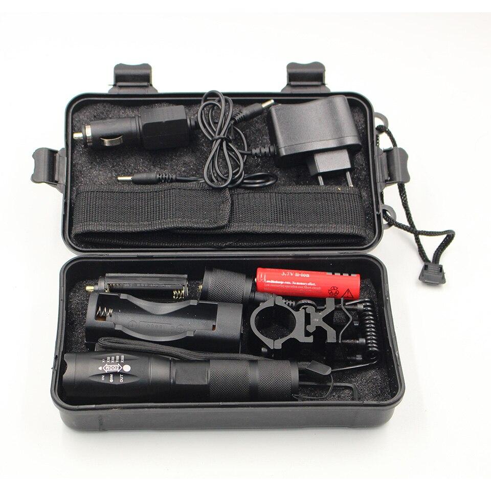 Litwod Z50 CREE xm-l T6 светодиодный тактический фонарь 5000lm Масштабируемые Факел для Охота свет + аккумулятор + удаленного коммутатора + зарядное устр…