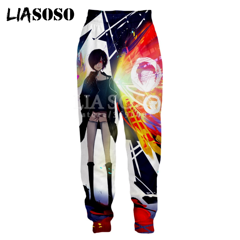 Anime Tokyo Ghoul cotton pants sport casual trousers cosplay Gift S-XXL Gray New