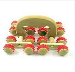 ONE PC wooden lumbar spinal cord 16 wheels massager tools пуф wooden круглый белый