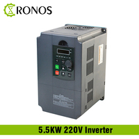 220V 5.5KW Single Phase input and 3 Phase Output Frequency Converter / Adjustable Speed Drive / Frequency Inverter / VFD