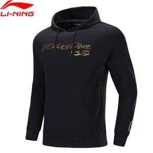 Image 3 - Li Ning Men Wade One Last Dance Hoodie Loose 65% Cotton 35% Polyester LiNing li ning Comfort Sports Tops Hoodies AWDP497 MWW1596