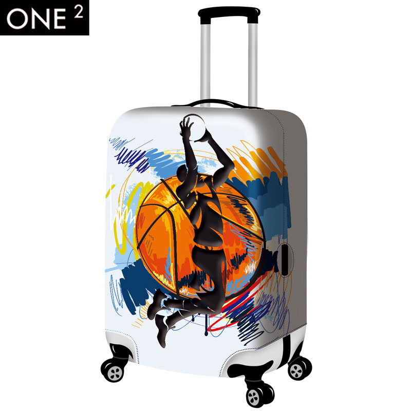 one2 design newest design for luggage cover 3D creative backpack print suitcase cover for men and
