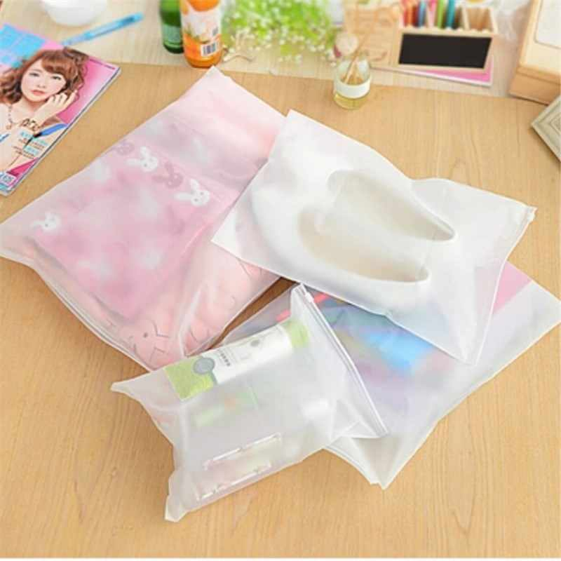Portable Waterproof Storage Bag Travel Luggage Partition Storage Bag Clothes Jewelry Ziplock Zip Zipped Lock Reclosable EVA Bags
