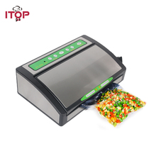 ITOP 220V Household Food Vacuum Sealer Machine Vacuum Packing Machine Film Container Food Sealer Saver