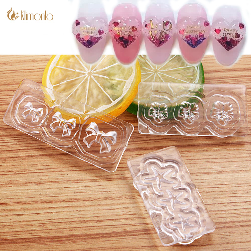 3Pcs Silicon 3D Nail Mould Acrylic Mold For Nail Art DIY Decoration 2016 New 9 Designs Gem Mould Nail Sticker Nail Accessory