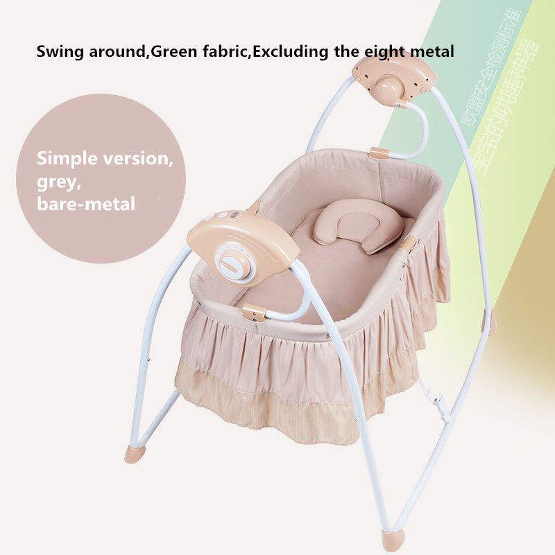 High Quality Multifunctional Electric Baby Cradle Baby Crib Intelligent Portable Folding Cradle with Music and Mosquito Net high tech and fashion electric product shell plastic mold