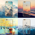 Ultra Thin Soft Silicon Mountain Landscape Case Cover For iphone 5 5s SE 6 6s Plus 6Plus Transparent Back Skin Phone Bag