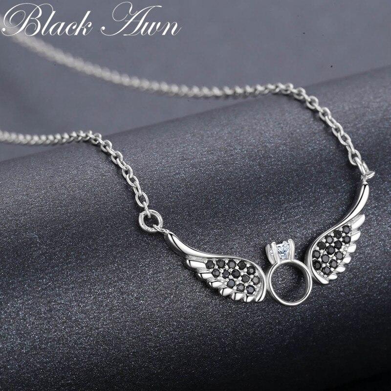 BLACK AWN nieuwe aankomst klassieke 925 sterling zilver fijne - Fijne sieraden - Foto 3