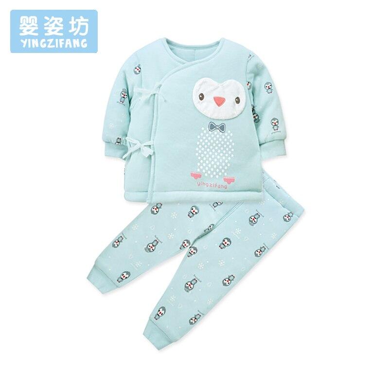 Bebek Autumn Winter Baby Clothing Set Cute Penguin Pattern Newborn Costume Suit Soft Infantil Clothes Sleeve T-shirt + Pants пинетки митенки blue penguin puku