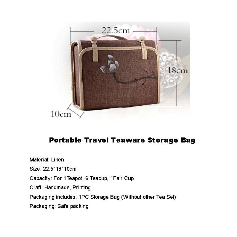 Japoneze Stable Japoneze Portable Portable Teaware Qese për Ruajtjen - Kuzhinë, ngrënie dhe bar - Foto 2