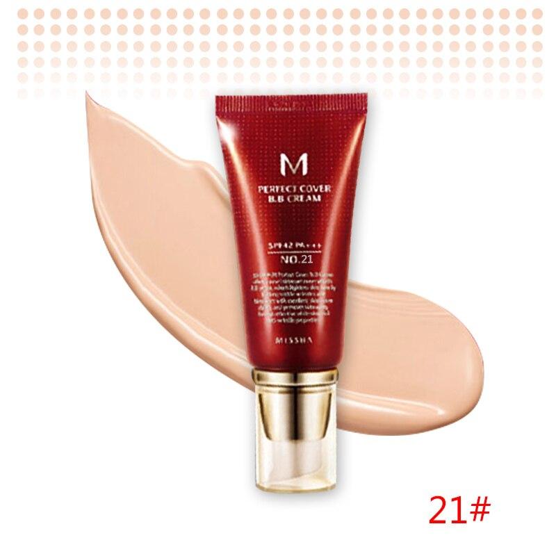 Оригинальная корейская косметика MISSHA M идеальное покрытие BB крем 50 мл SPF42 PA+++(#13,#21,#23,#31) тональный крем для макияжа CC Cream - Цвет: NO.21 Light Beige