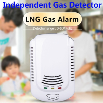 Coalgas Natural Gas Methane Propane Leak Detector Tester Measurer Home Security EU Plug Concentration Meters