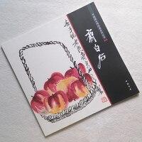 Livro Da Pintura chinesa De Coleção de Pintura da Escova De Pintura À Mão Livre Pinceladas Xie Yi Qi Baishi 68 páginas 28*28cm