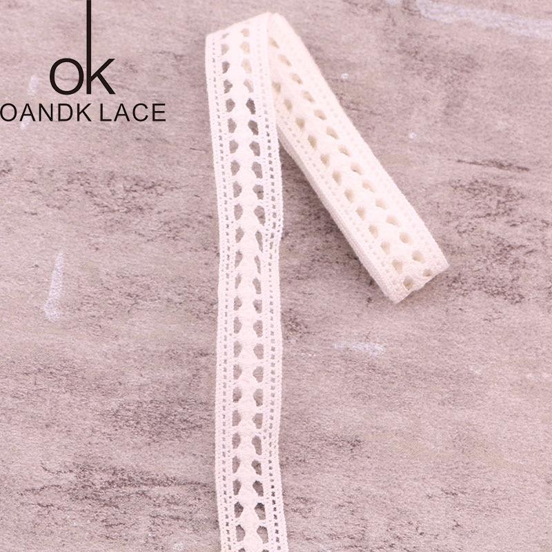 HTB1zLP2XvvsK1RjSspdq6AZepXa0 4YARD Apparel Sewing Fabric DIY Ivory Cream Black Trim Cotton Crocheted Lace Fabric Ribbon Handmade Accessories Craft 11021