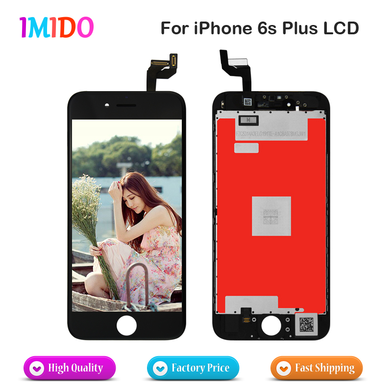 5PCS LOT LCD Display 2 Color For iPhone 6s plus touch screen Assembly Replacement digitizer tools