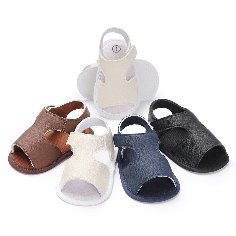 Summer models breathable soft bottom slip shoes new hollow baby shoes toddler shoes baby boy