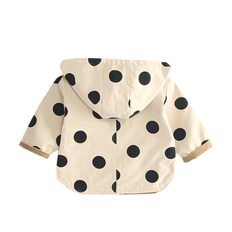 9ddfea9e5 Halilo Kids Clothes Girls Coats And Jackets Hooded Polka Dot Autumn ...