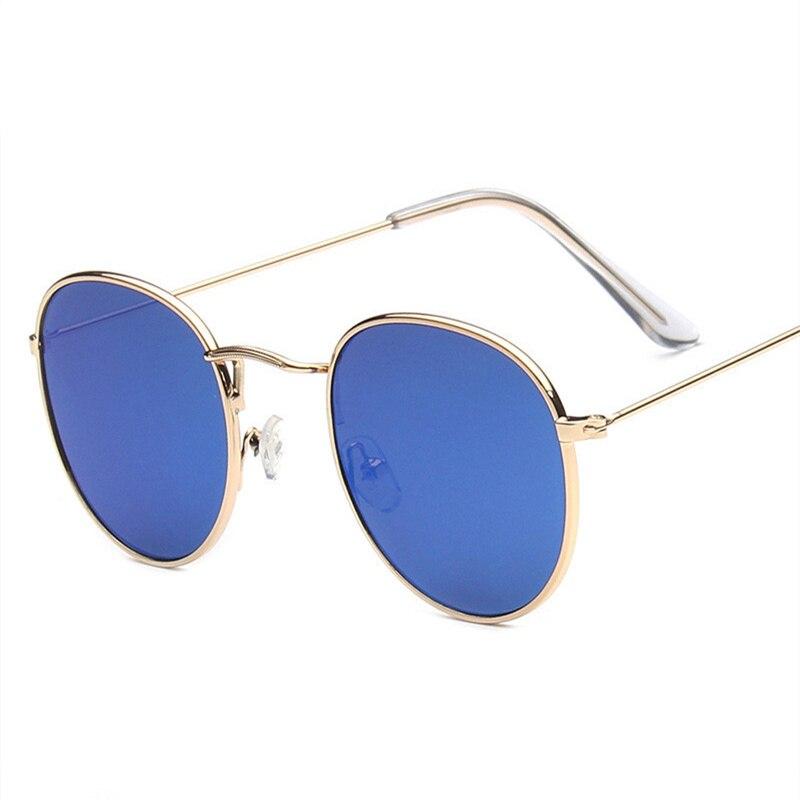 Oulylan Vintage Sunglasses for Women Trend Circular Frame Glasses Fashion Coating Reflective Mirror Glasses UV400 Eyewear