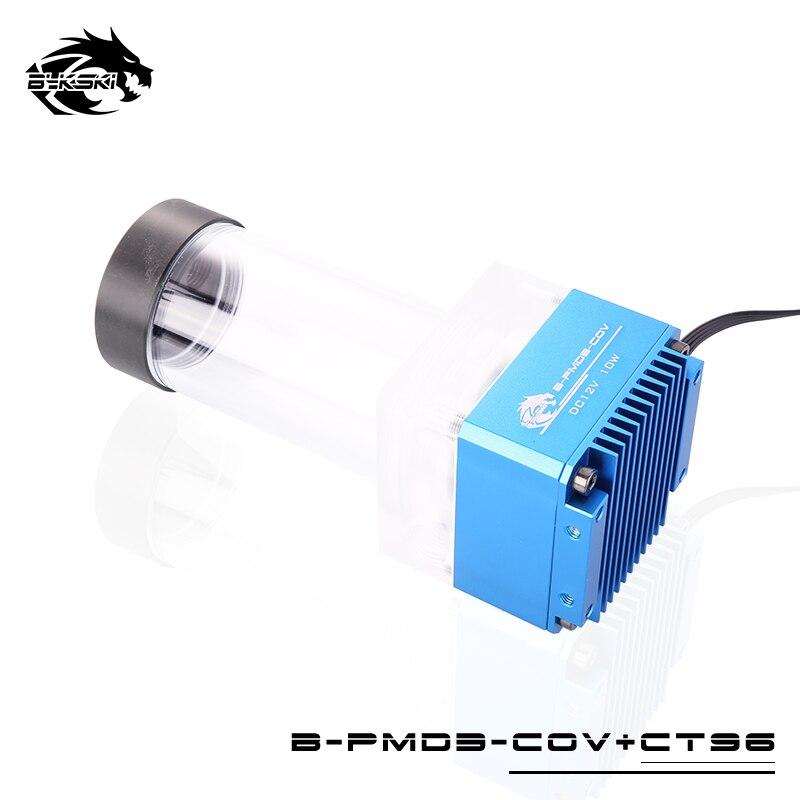 Купить с кэшбэком Bykski DDC Combo Pump + Reservoir Maximum Flow Lift 6 Meters 600L/H Compatible DDC Cover Radiator Water Tank /Total Length 154mm