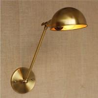 Dourado Longo Braço de Luz de Parede Para Sala de Jantar Loft Estilo Industrial Do Vintage Lâmpada de Parede Edison Arandela Arandela De Parede