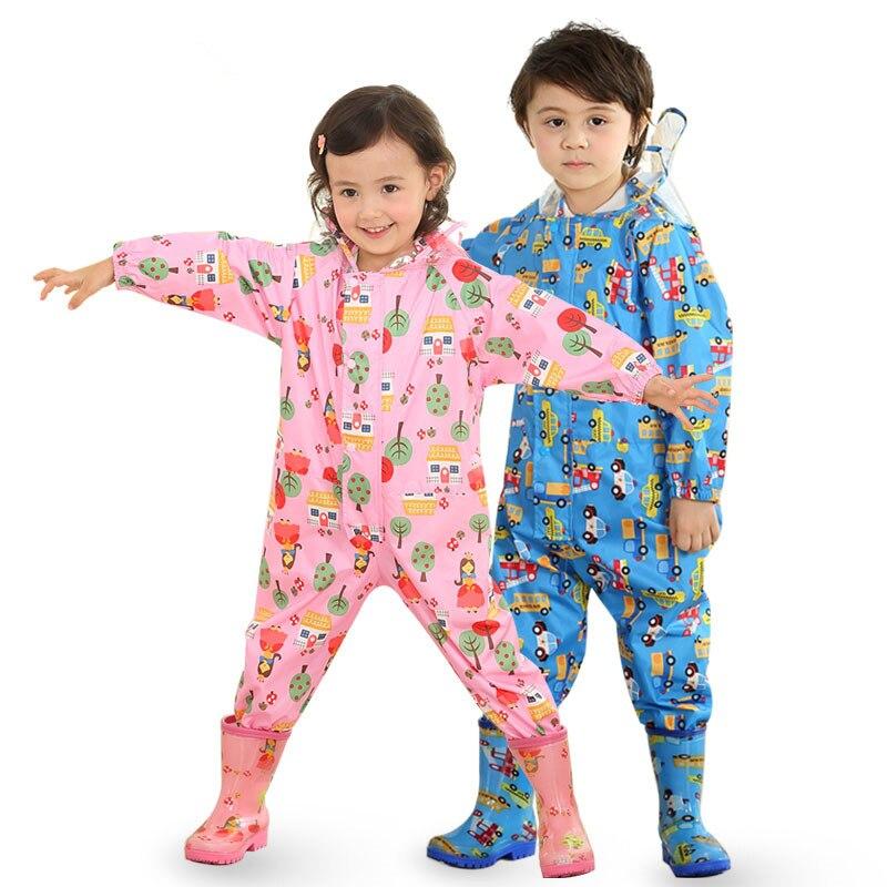 Rain Gear Have An Inquiring Mind 80-120cm Waterproof Raincoat For Children Kids Baby Rain Coat Poncho Boys Girls Primary School Students Siamese Rain Suit