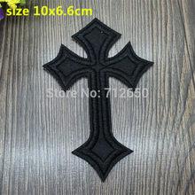 Nova chegada 10 pçs preto cruz dos desenhos animados bordados remendos de ferro em desenhos animados motivo bx applique bordado acessório 201501
