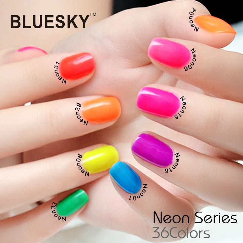 Neon Series 01 18 Summer Hot Sale Color Bluesky Beauty Supplies ...
