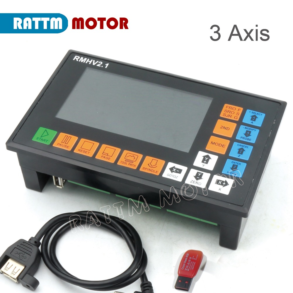 цена на 3 Axis CNC Motion controller 500KHz off-line operation for CNC Router Engraving Milling Machine supports servo stepper motor