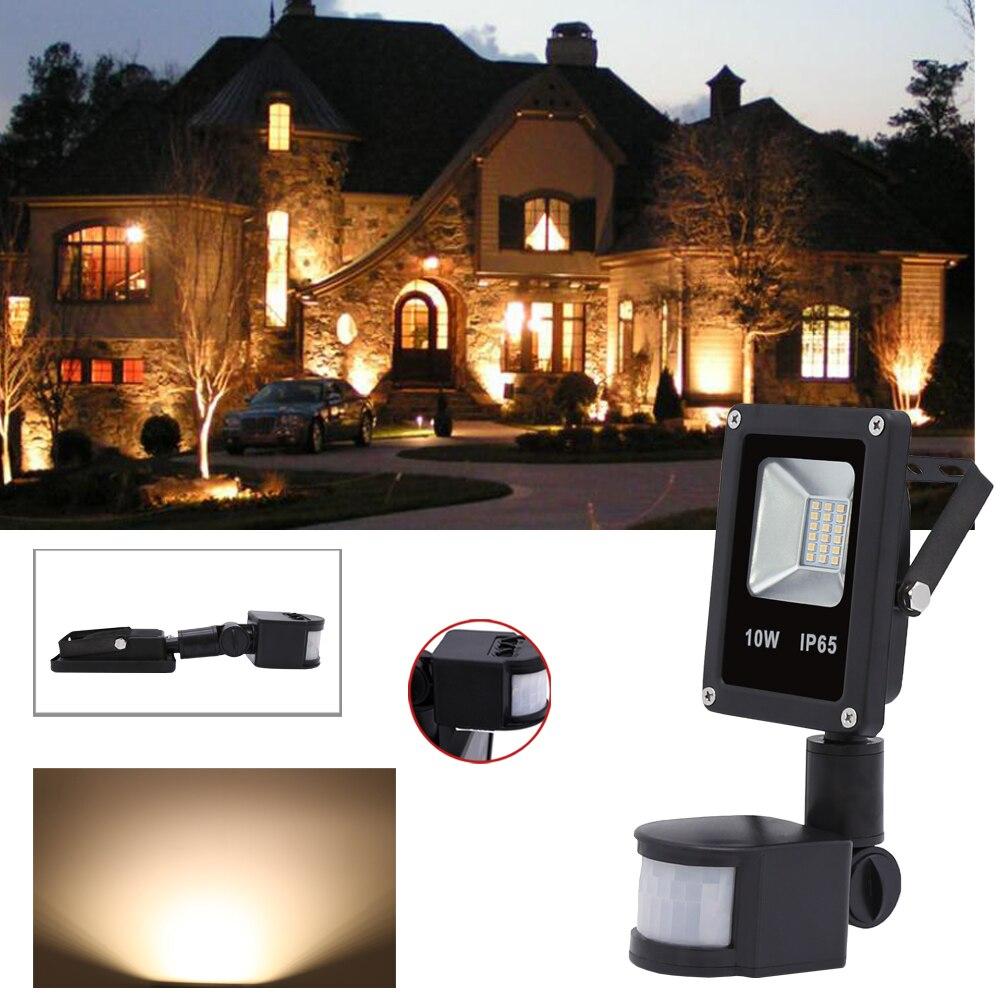 10 W 20 W 30 W 50 W éclairage led En Aluminium projecteur 85-265 V Blanc Chaud Éclairage Extérieur détecteur de mouvement lampe IP65