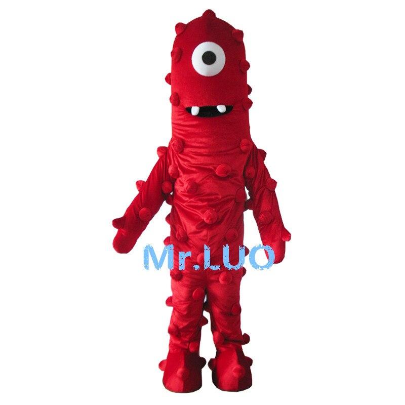 Offre spéciale Costume de mascotte monstre rouge personnalisé mascotte déguisements Costumes Costume Animal Costumes de fête