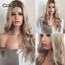COLODO Remy Brazilian Hair Wigs Ash Blonde Lace Front