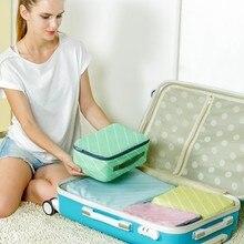 4pcs Fashion Twill waterproof travel clothing bag storage free shipping