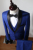 Personalizado dos homens de Qualidade Moda Xale Colarinho Ternos de Impressão Masculino conjunto vestido de Casamento formal ternos ocasionais magros Dos Homens de negócios de trabalho desgaste